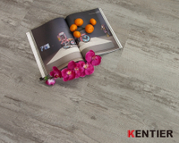 S1801-Grey color dry back pvc flooring with crystal treatment